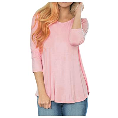Womens Long Sleeve Loose Shirt, Inkach Stylish Girls Backless Patchwork Lace Tops Blouse T-Shirt