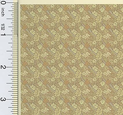 "Dollhouse Miniature Brodnax Wallpaper Arts /& Crafts /""Sunflower/"" 1:12 Scale"