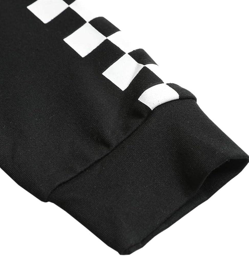SUNMMWERY Kids Crop Tops Girls Long Sleeve Plaid Hoodies Fashion Cute Sweatshirts