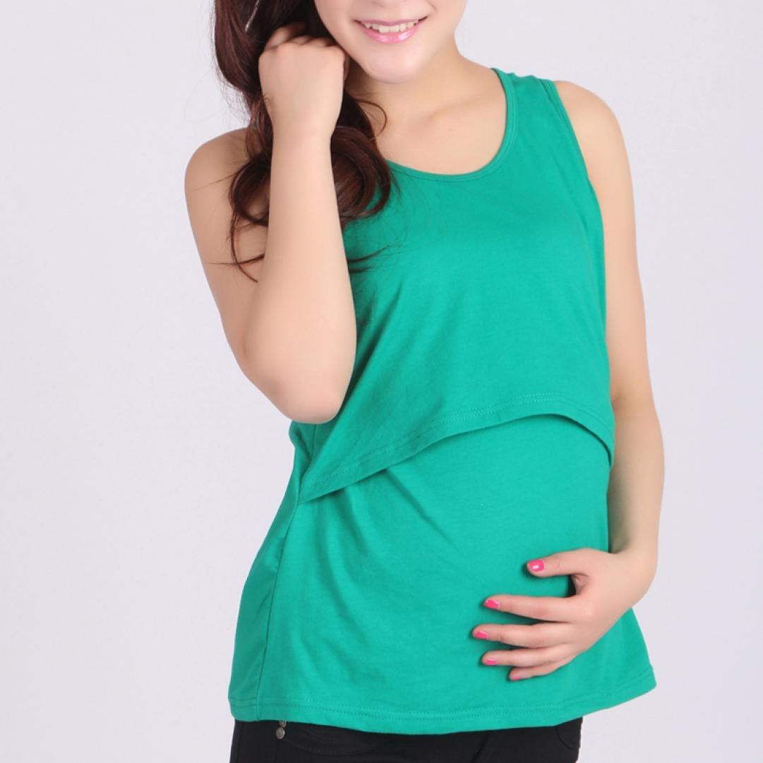07f7f77ff3416 Amazon.com: AIMTOPPY Pregnant Maternity Clothes Nursing Tops Breastfeeding  Vest T-Shirt (Green): Home & Kitchen