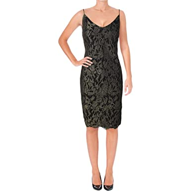 32f2870dea8 LAUREN RALPH LAUREN Womens Metallic Lace Party Dress at Amazon ...