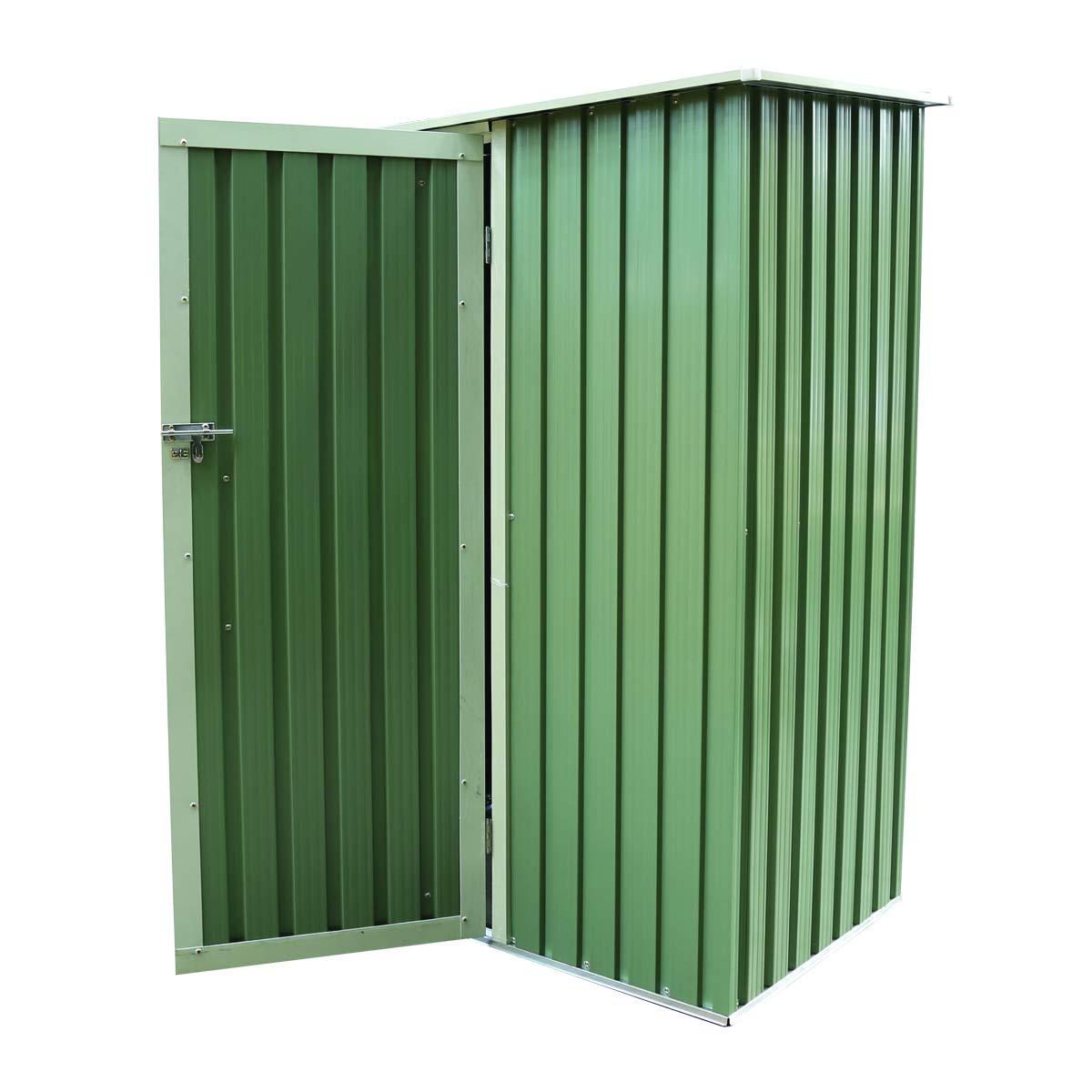 Charles Bentley Jardín 4.7ft x 3 pies de metal nave de almacenamiento en el pecho pequeño techo verde puerta Apex: Amazon.es: Jardín