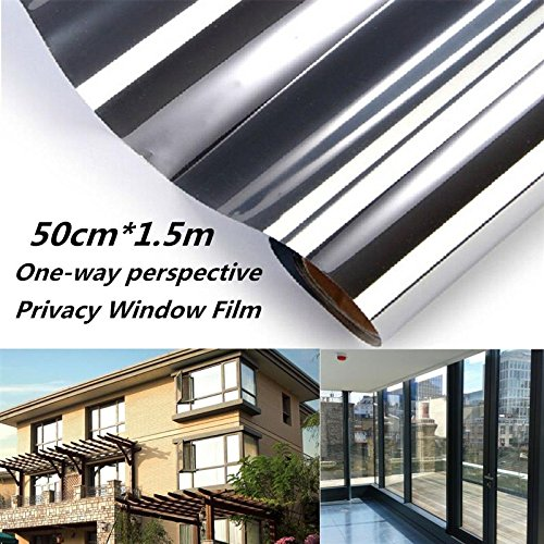 Static Cling One Way Glass Window Film Mirror Sticker Privacy Security Solar Reflective Window Decals Home Office Decoration
