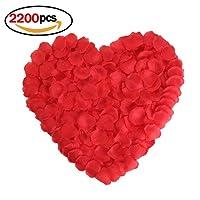 Ndier 2200 pc di seta rossa grandi petali di rosa per matrimonio fiori decorazione artificiale di red rose petali di fiori per una festa di natale vaso arredamento decorazione floreale