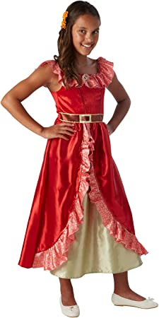 Disfraz para niña de princesa de Disney Elena de Ávalor: Amazon.es ...