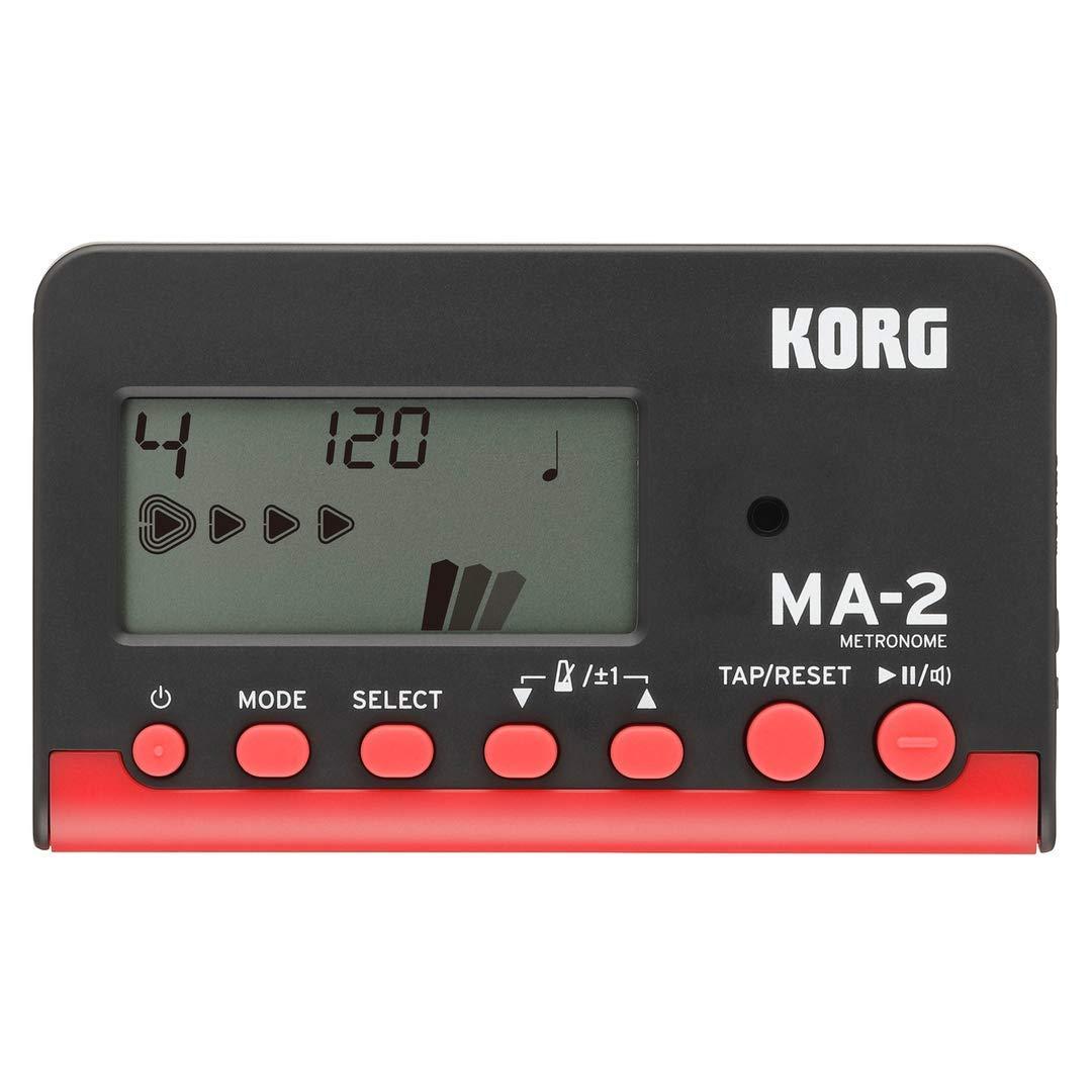 KORG デジタルメトロノーム MA-2 ブラック・レッド