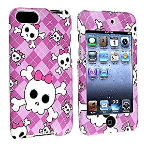 eForCity Snap-On Case for iPod touch 2G/3G (Light Purple/Cute Skull)
