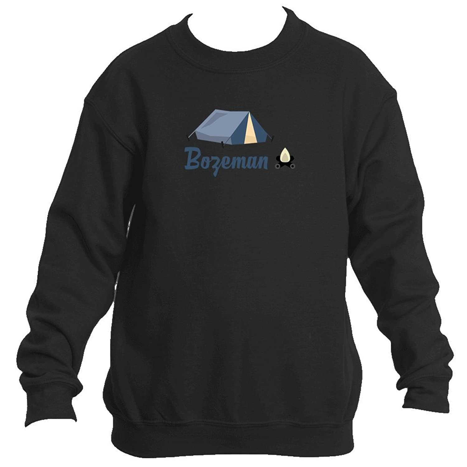 Wholesale Bozeman Camping & Camp Fire - Montana Youth Fleece Crew Sweatshirt - Unisex hot sale