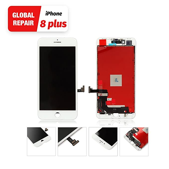 more photos 6820b 2dc04 White for iPhone 8 Plus LCD Touch Screen Replacement from Global Repair  Digitizer Screen Repair Tools Kit