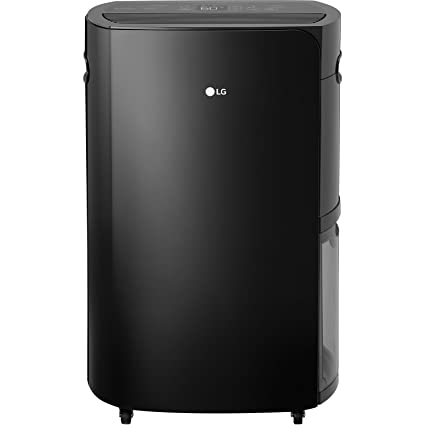LG PuriCare 70 Pint Dehumidifier, Black
