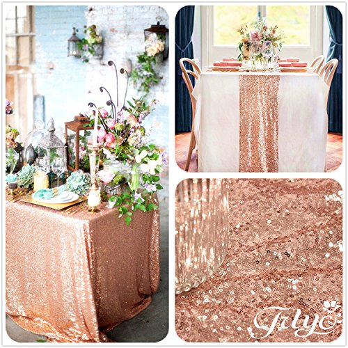 trlyc 3ft to 10ft real rose gold sequins square. Black Bedroom Furniture Sets. Home Design Ideas