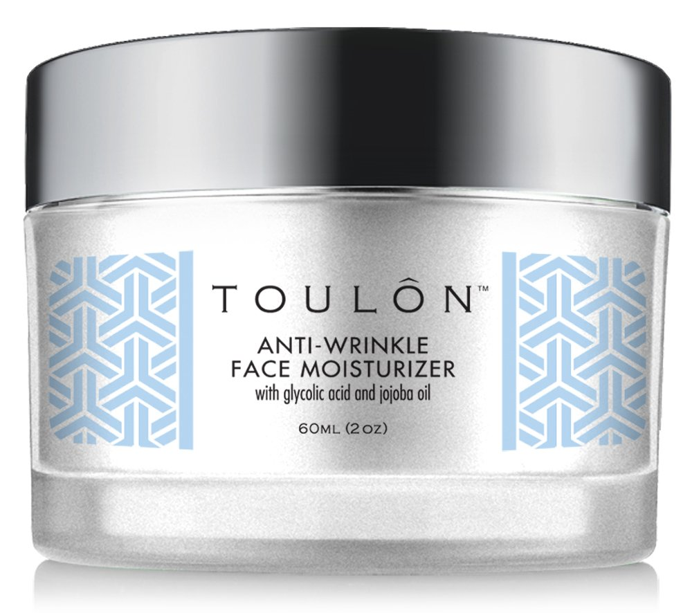 Glycolic Acid Cream 10% Face Moisturizer. Best Alpha Hydroxy Acid Products; Exfoliating, Anti-Aging Wrinkle Cream with AHA for Acne Prone Skin; Natural Exfoliator for Day and Night by TOULON