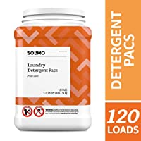 Deals on 120-Ct Amazon Brand Solimo Laundry Detergent Pacs Fresh Scent