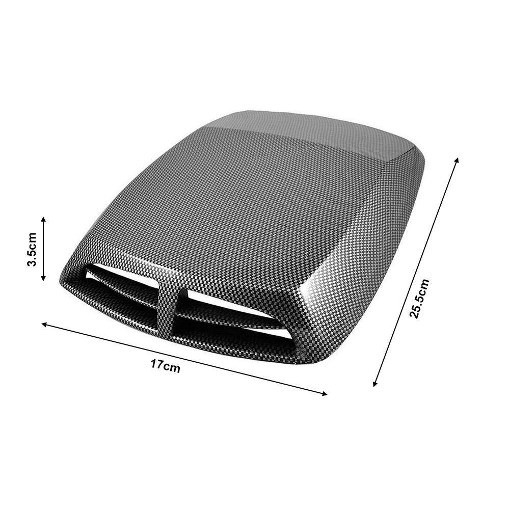 25x33CM Seasaleshop Prise dair Capot Couvercle d/'a/ération d/écoratif pour Capot de Voiture Style 3D Admission d/'/écoulement d/'air Noir