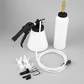DoMoment Air Pneumatic Vacuum Tool 90-120PSI Sistema de Freno de Coche Líquido de Aceite Purgador Hidráulico Van Freno Embrague Líquido de Cambio Kit de ...