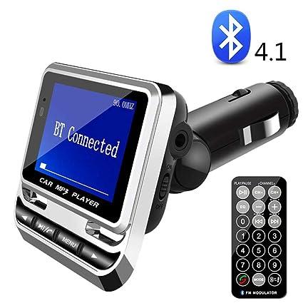 SHENGY Cargador Bluetooth para automóvil, Reproductor de MP3 ...