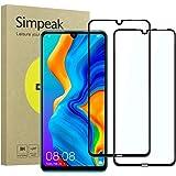 Simpeak 2-Packs Cristal Templado Compatible con Huawei P30 Lite 2019, Protector de Pantalla Compatible con Huawei P30…