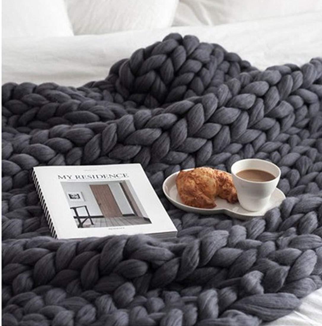 Chunky Yarn Super Bulky Giant Wool Yarn Roving for Arm Knitting Extreme Knitting (4.4lbs(2kg), Dark Grey) by zhengjun (Image #3)