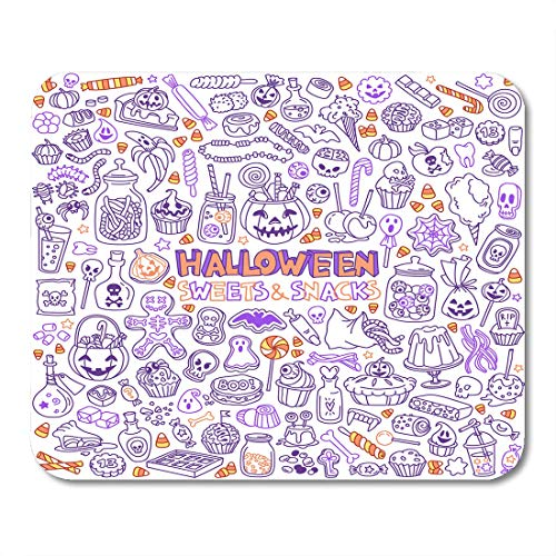 Nakamela Mouse Pads Bar Candy Halloween Candies Sweets Snacks and Drinks for Trick Treating Kids Party Table Basket Mouse mats 9.5