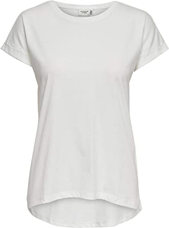 JDY Camiseta de Mujer de Manga Corta T-Shirt Basic Top Only: Amazon.es: Ropa y accesorios