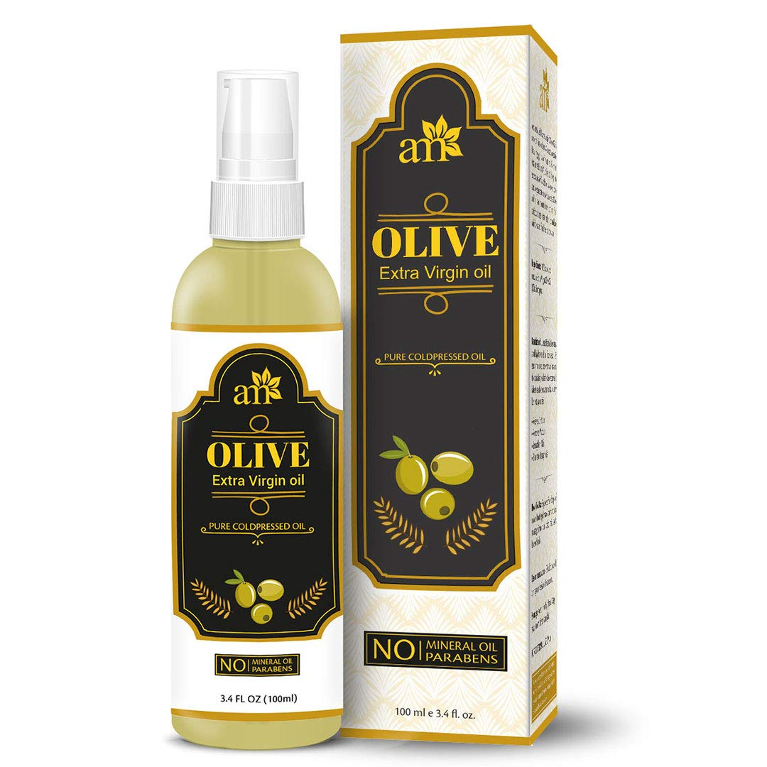 Aromamusk 100 Pure Cold Pressed Extra Virgin Olive Oil For Hair And Skin 100ml