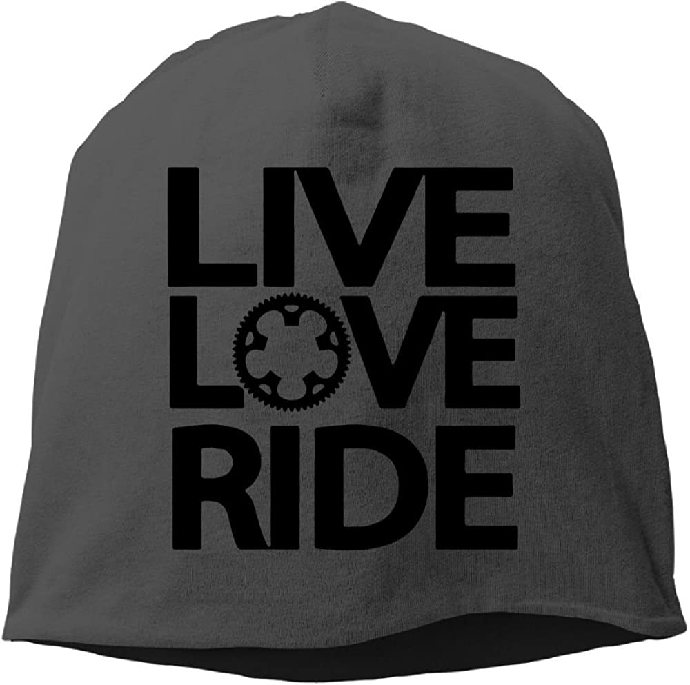 Fashion Solid Color Live Love Ride Hedging Cap for Unisex Red One Size