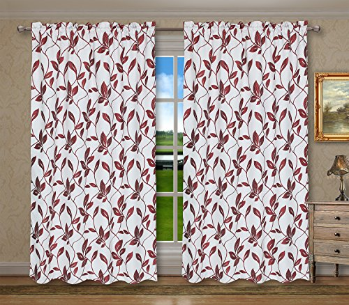 Pack 2 CaliTime Window Curtains Panels 55 X 84 Inches