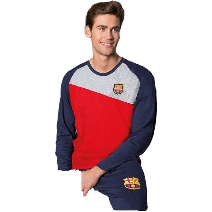 Pijama Hombre FC BARCELONA Azul-Grana 2017-2018 (XL)  Amazon.es ... fecafb8bedd