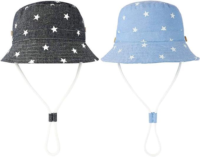 UV Ray Cappello Estivo da Sole Cappello di Protezione Solare con Ampia Visiera FANTESI 2 Pezzi Cappello da Sole per Bambino UPF 50