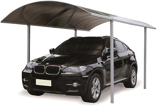 Voilà - Marquesina de 5 x 2, 6 x 2, 65 m modular, color ahumado - Cobertizo para coche Carport: Amazon.es: Jardín