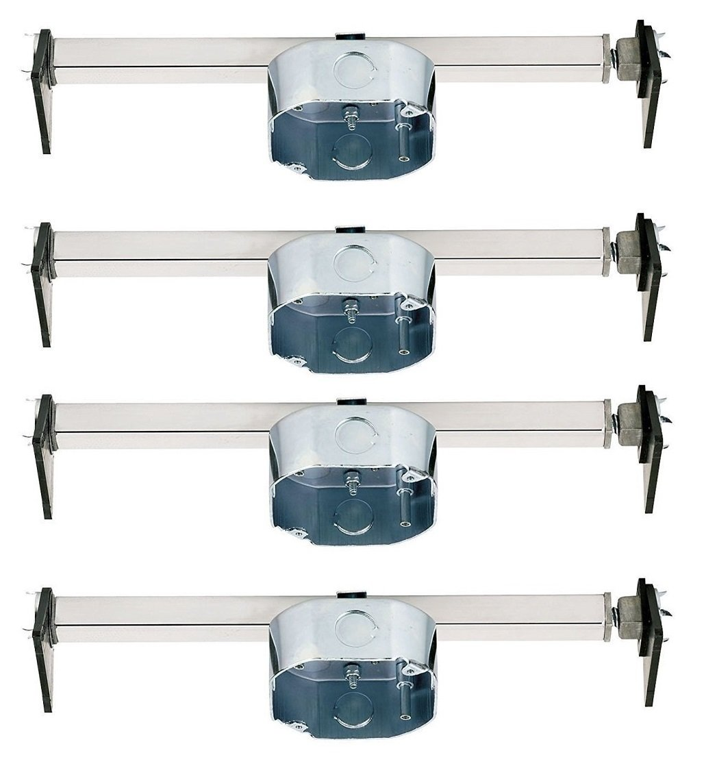 Westinghouse 0110000 Pack of 4 Saf-T-Braces for Ceiling Fans, 3 Teeth, Twist and Lock by Westinghouse