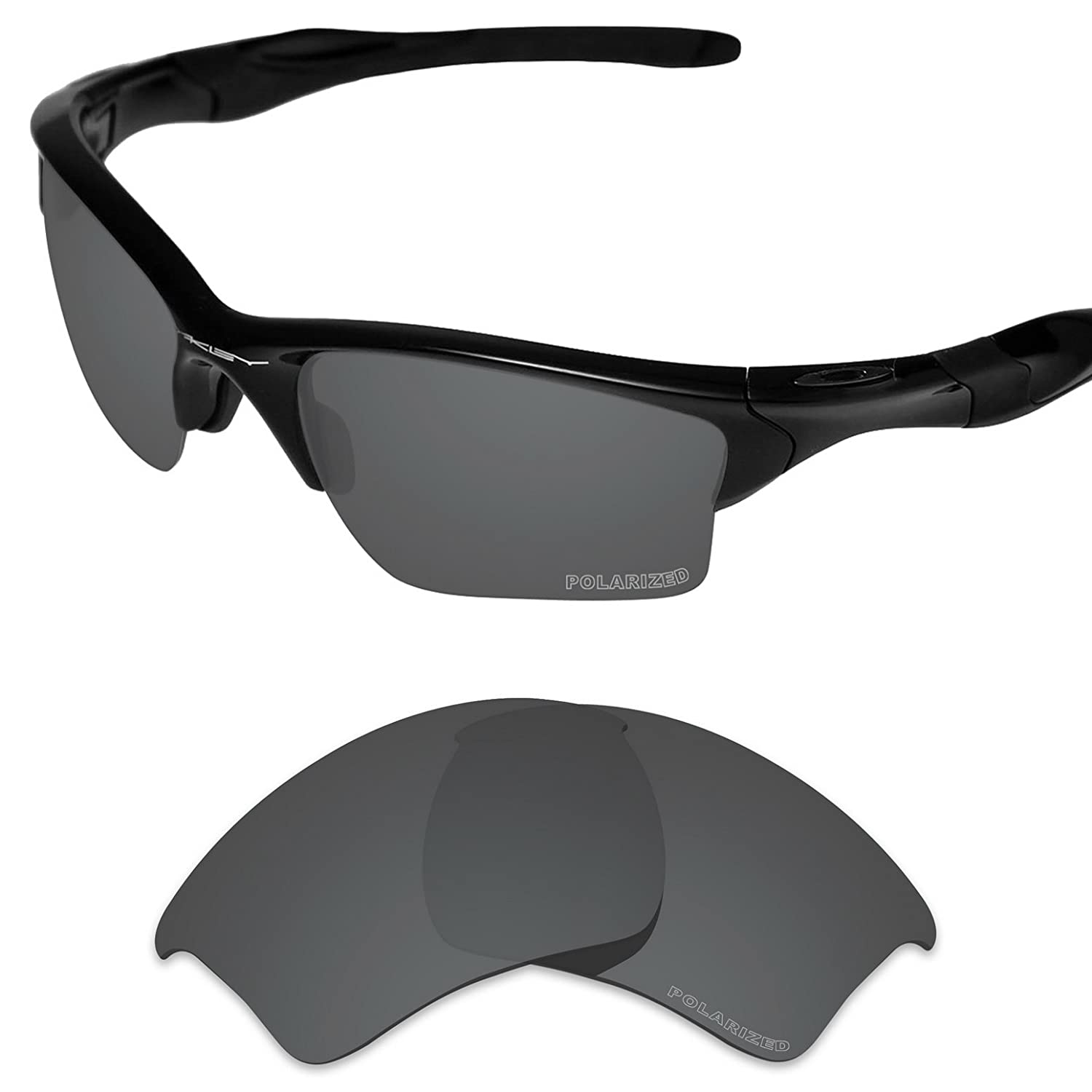 c747c0bd3b6 Amazon.com  Tintart Performance Lenses Compatible with Oakley Half Jacket  2.0 XL Polarized Etched-Carbon Black  Clothing