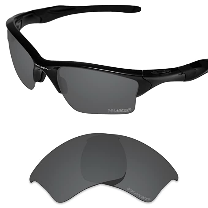2c41b8d613f38 Tintart Performance Replacement Lenses for Oakley Half Jacket 2.0 XL  Polarized Etched-Carbon Black