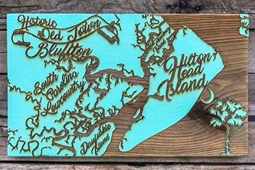 Hilton Head, Bluffton, Lowcountry, Daufuskie Island wood engraved - Bluffton Hilton Head