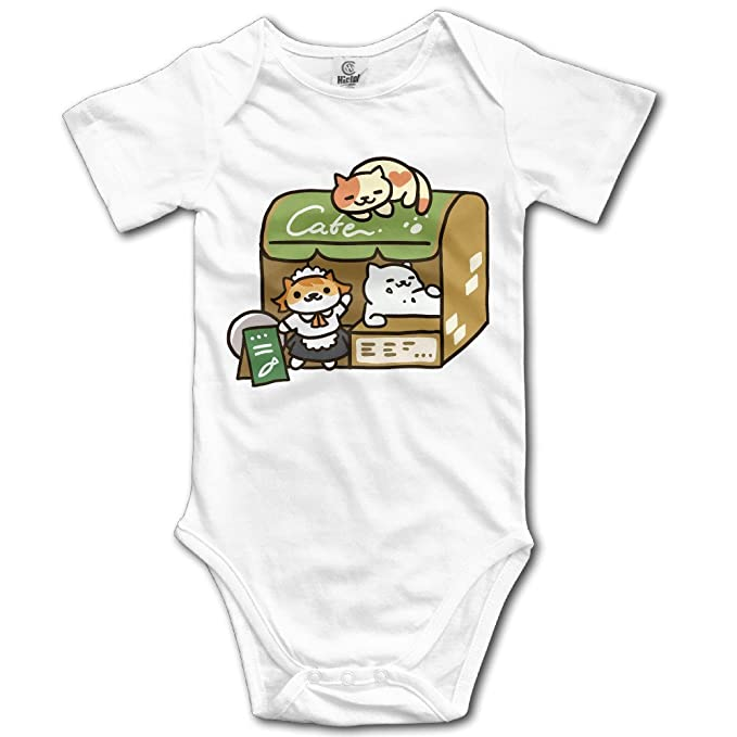 Unisex Neko Atsume gato Anime bebé Pelele bebé mono corto slev: Amazon.es: Ropa y accesorios
