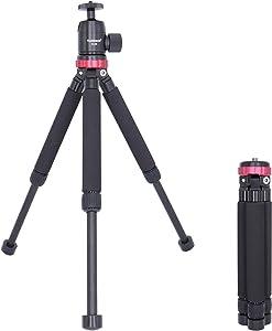 Koolehaoda Travel Portable Mini Tripod Compact Desktop Macro Mini Tripod with Ball Head. for DSLR Camera Canon Nikon (MT-02 D28)