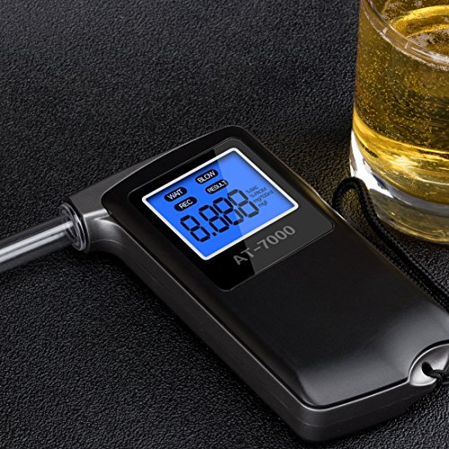 EEK-Brand Breathalyzer Professional Portable Breath Digital Display Alcohol Tester with 6 Units Modes and Extra 10 Mouthpieces by EEK-Brand (Image #5)
