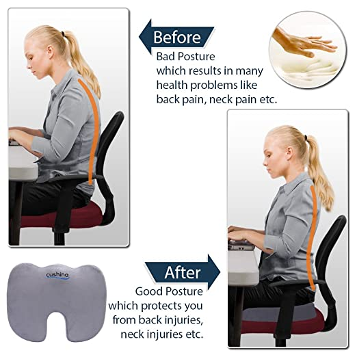 Cushina® Memory Foam Seat Cushion