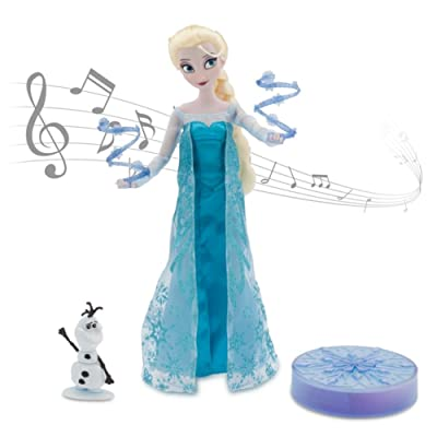 "Disney Frozen Elsa Deluxe Singing Doll Set Olaf - 11"" Sings & Glows: Toys & Games"