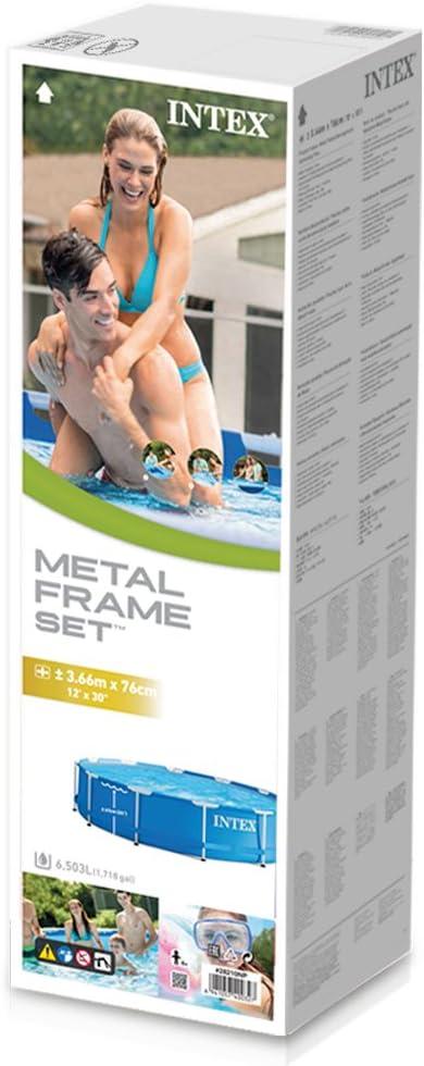 INTEX Piscina elevada Metal Frame - 6503 litros, 366 x 76 cm ...
