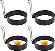 Egg Ring, Round Professional Pancake Mold, Egg Cooker Rings For Cooking, Stainless Steel Non Stick Round Egg Ring Mold For Fr