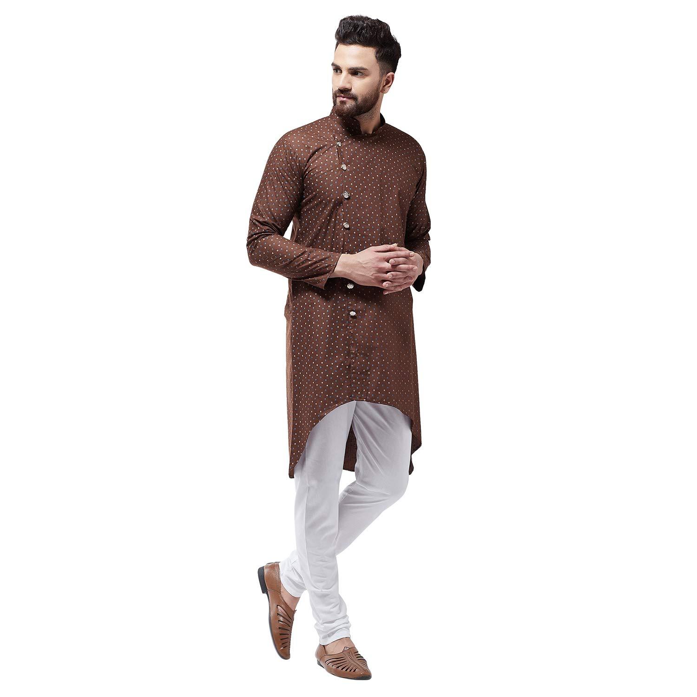 Bollywood-Indian-Kurta-Pajama-Dress-Tunic-Printed-Top-Men-Kurta-Ethnic-Wear thumbnail 13