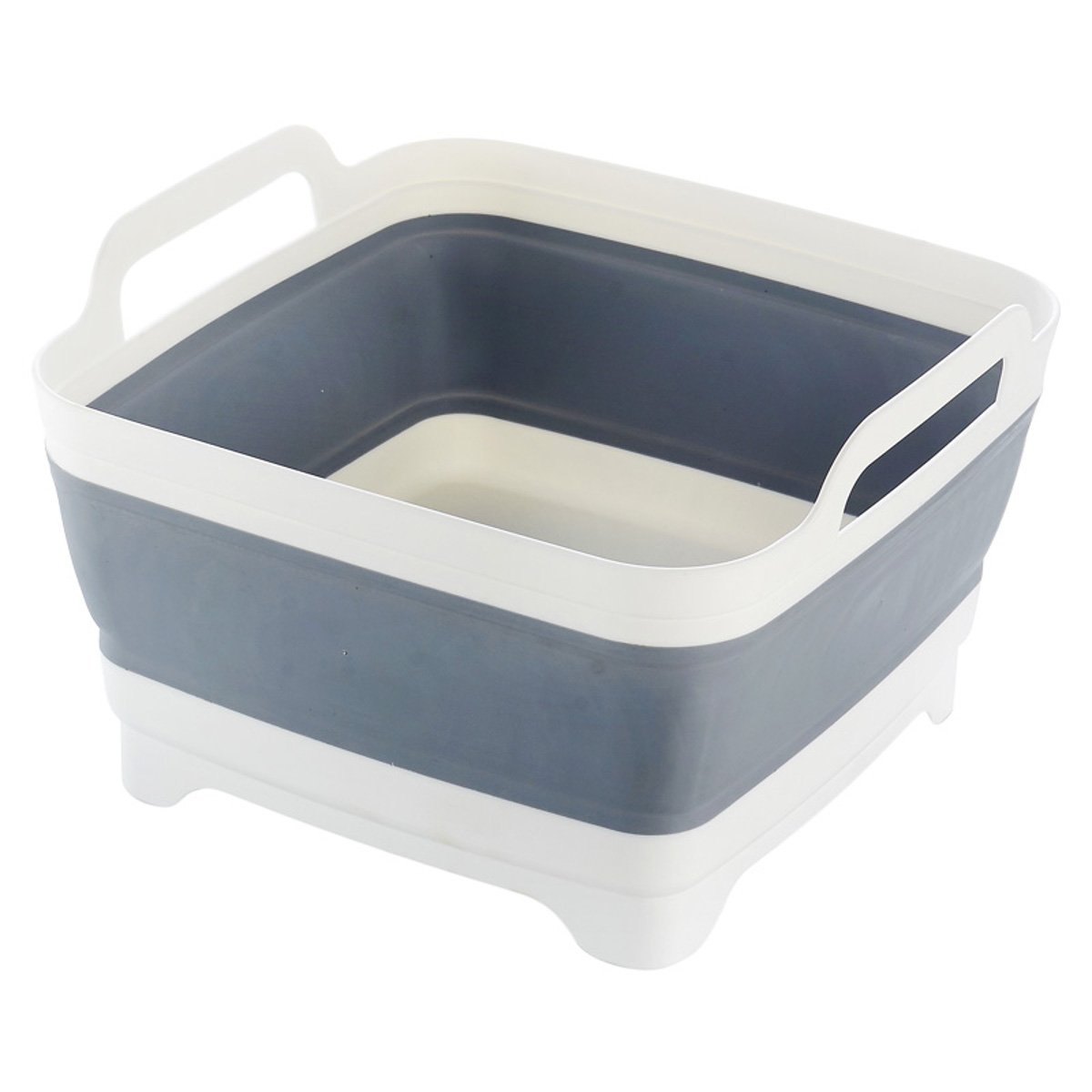 Space Saving Collapsible Sink Grey Silicone for Home Caravan Boat RV Camping