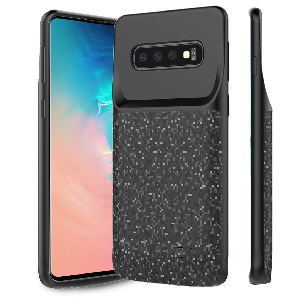 BasicStock Funda Batería Samsung Galaxy S10 Plus, 5000mAh Batería Externa Recargable Ultra Delgada Protector portátil Carga Caso de Prueba de Choque ...