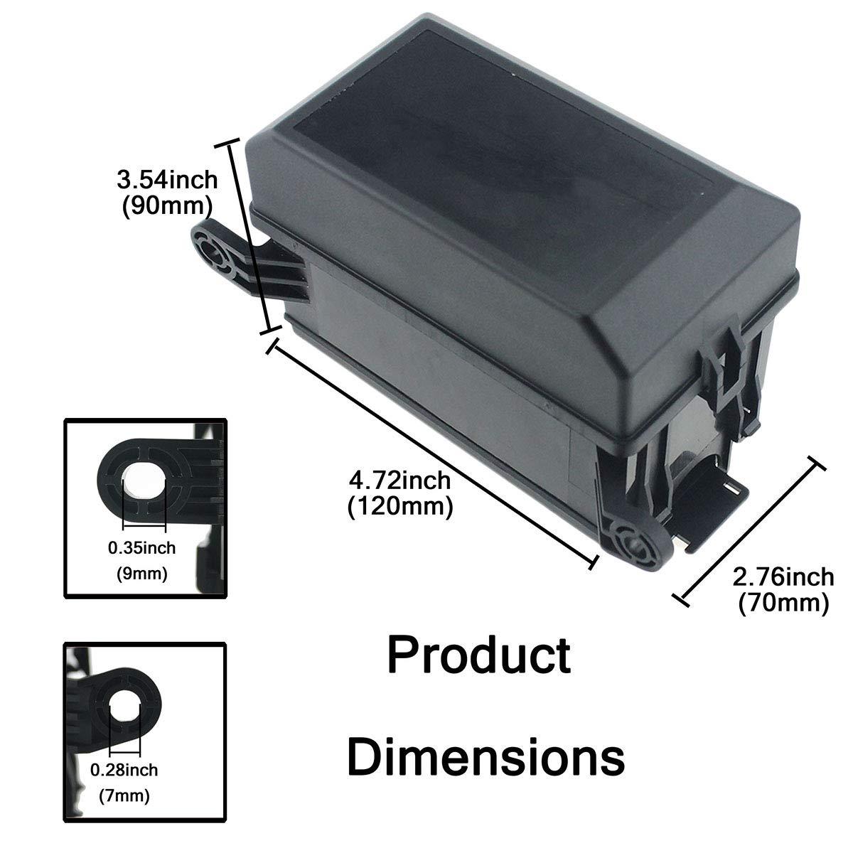 1 pezzo 4P 40A e 5 pezzi 100A 6 scomparti Vosarea 32 V Cassetta di sicurezza per auto 100 A