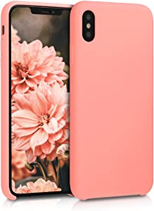 kwmobile TPU Silicone Case Compatible with Apple iPhone Xs Max - Soft Flexible Rubber Protective Cover - Coral