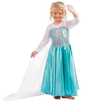 Traje Mntllbnc Frozen Elsa tamaño 110 3-4 años de reina de ...