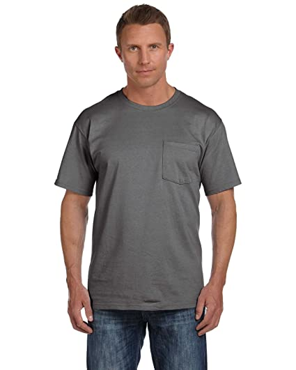 86a1aa69 Fruit of the Loom Men's Heavy Cotton HD T-Shirt with Pocket | Amazon.com