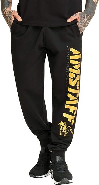 Amstaff Logo 2.0 - Pantalones de chándal Negro y Dorado XL ...