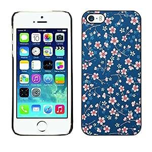 All Phone Most Case / Hard PC Metal piece Shell Slim Cover Protective Case Carcasa Funda Caso de protección para Apple Iphone 5 / 5S daisy white blue pattern floral wallpaper